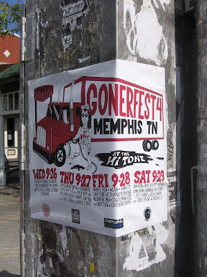 Gonerfest 4 poster, corner of Cooper and Young, Memphis
