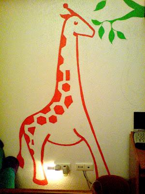 Pintura mural para habitaci n infantil bohemita arte e - Pinturas habitacion infantil ...