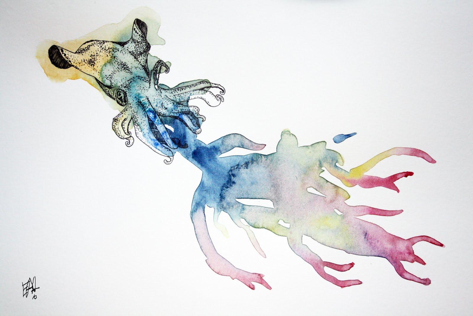 Calamar en su tinta