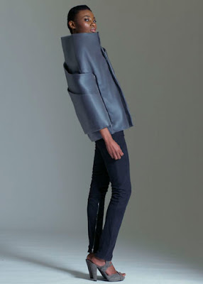Jon Pagels Parsons thesis grey structured jacket @ Dream Sequins