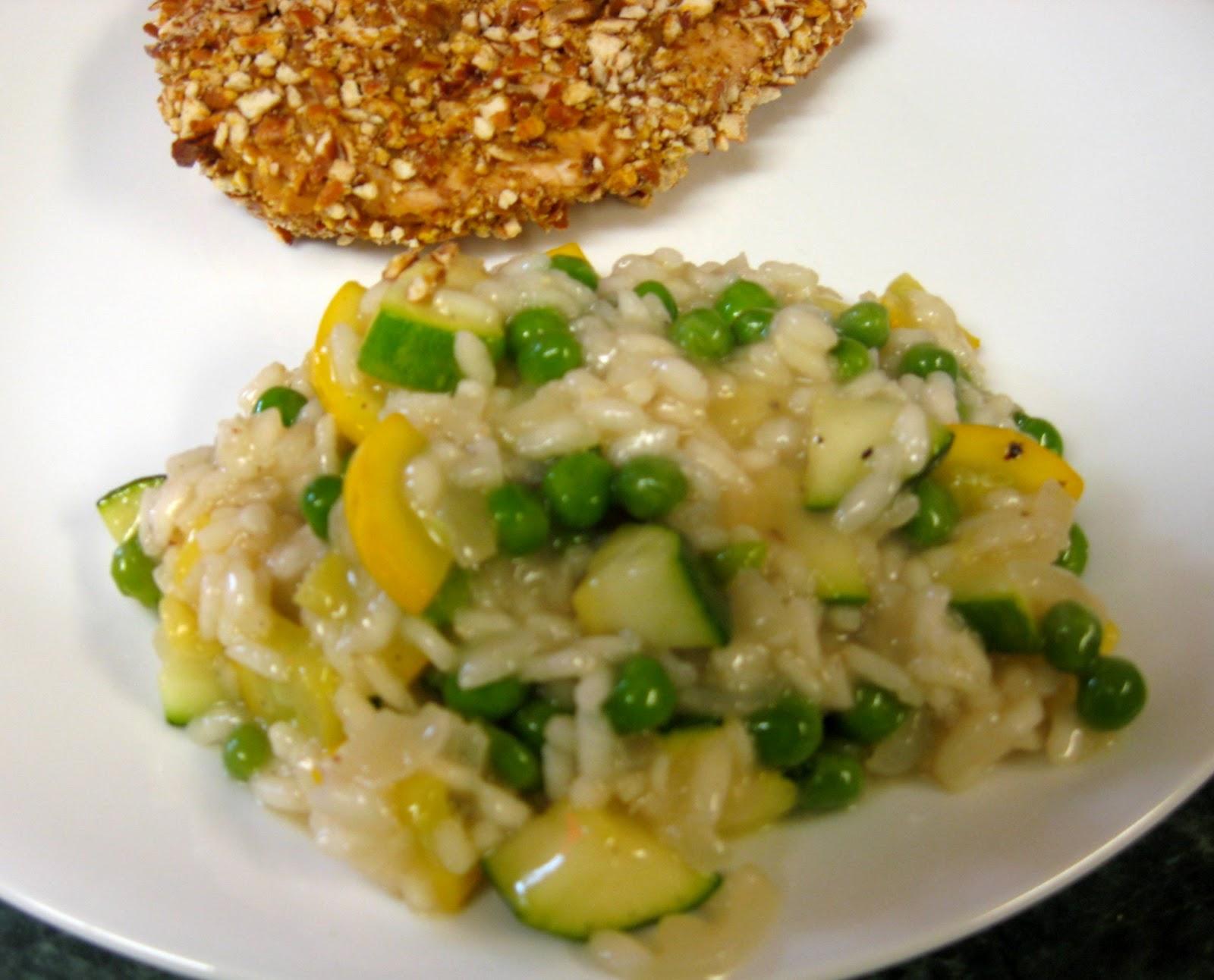 ... Dinner... Healthy & Low Calorie: Summer Squash, Zucchini & Pea Ri...
