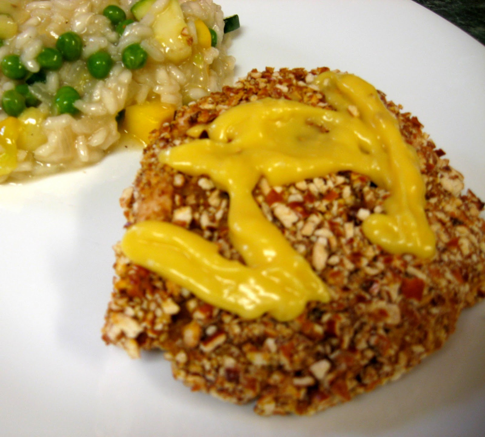 ... ... Healthy & Low Calorie: Honey Mustard Chicken with Pretzel Crust