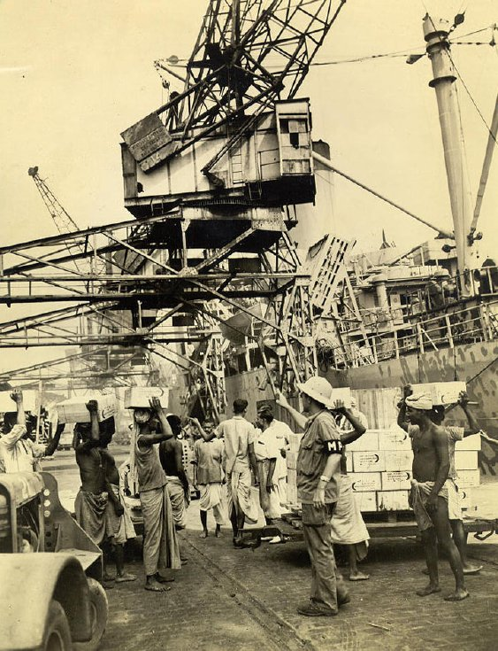 Calcutta Port 1945