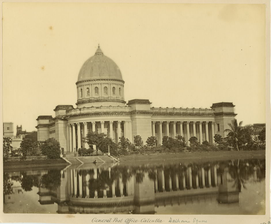 General Post Office Dalhousie Square Calcutta (Kolkata) - 1870s