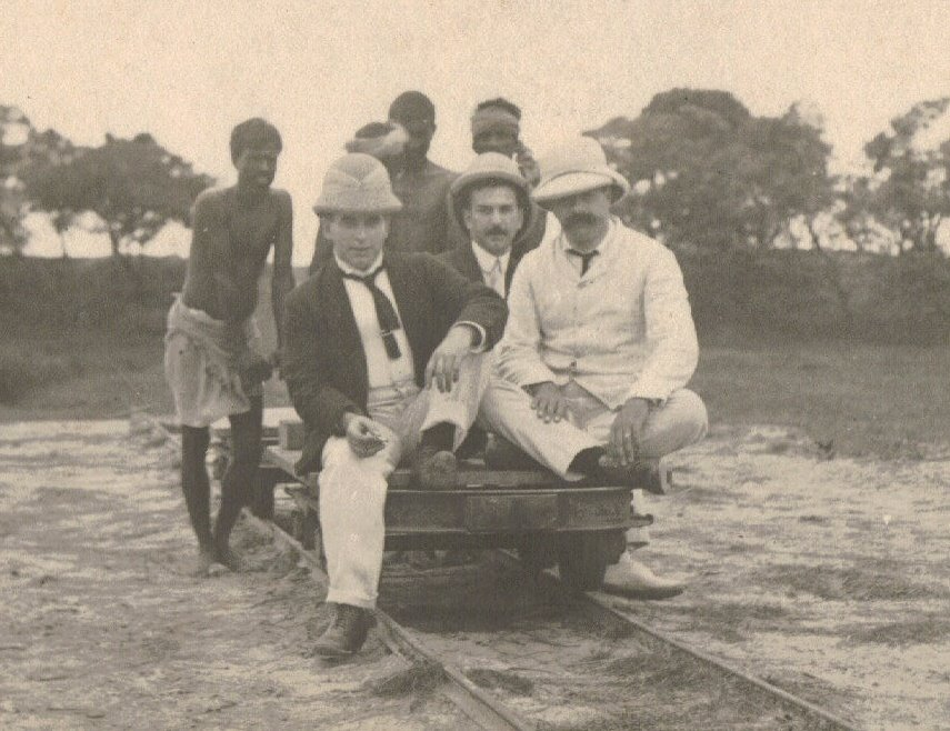 Three Men on a Trolley, Calcutta c.1903