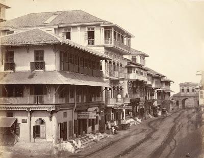 Bombay, autrefois... dans Photographies du monde d'autrefois Street+in+Bombay+1860