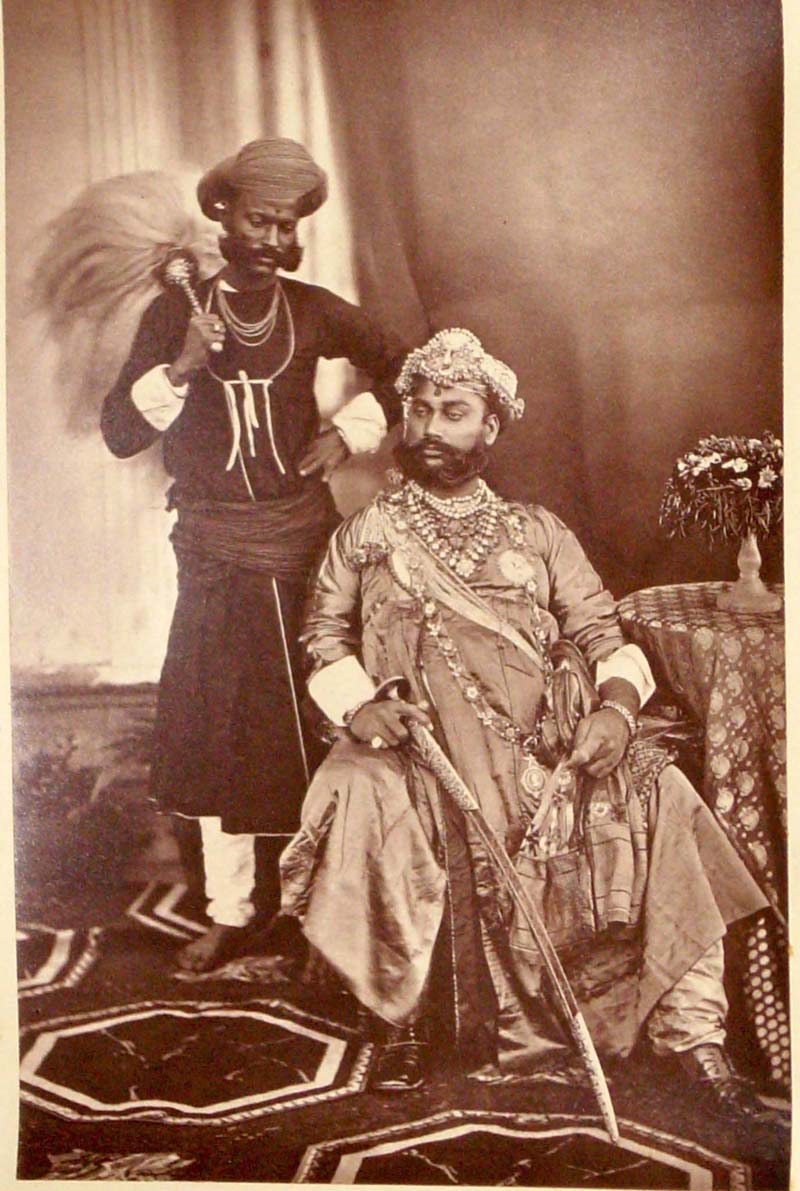 The Maharaja of Indore at the Delhi Darbar of 1877
