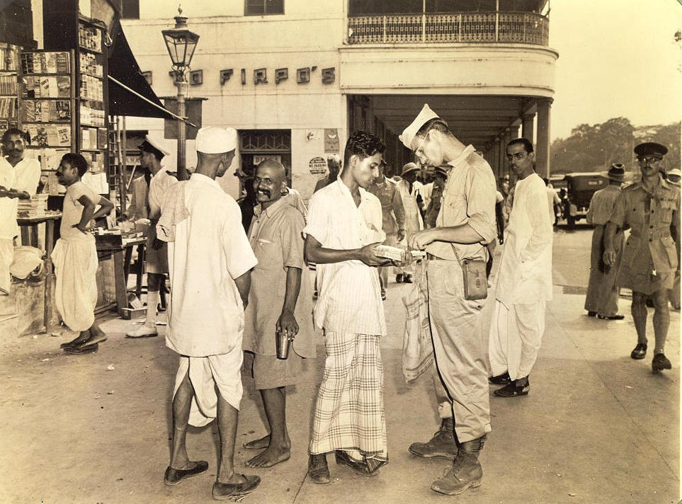 GI tourist in Calcutta 1945