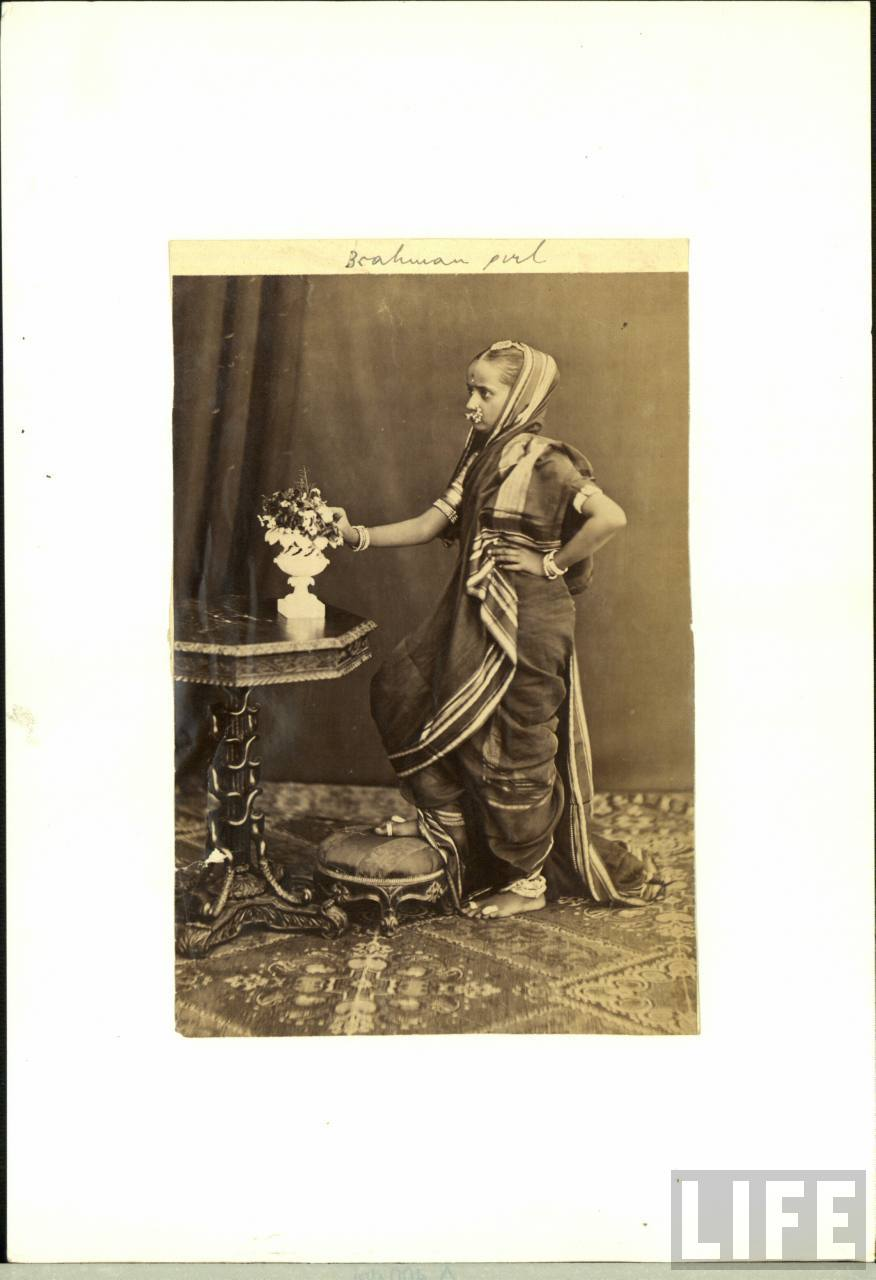 South Indian Brahman Girl - Vintage Photograph
