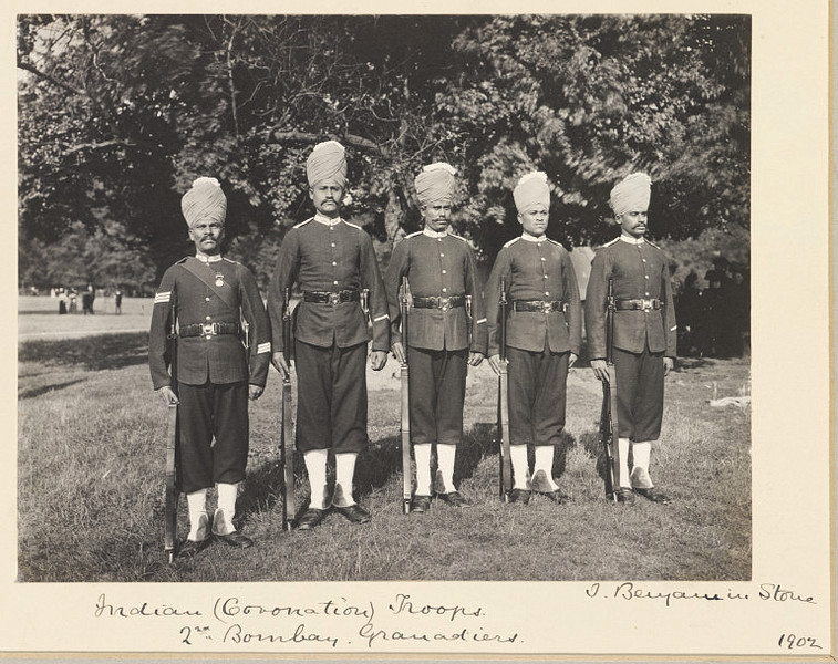 soldiers of the 2nd Bombay Grenadiers
