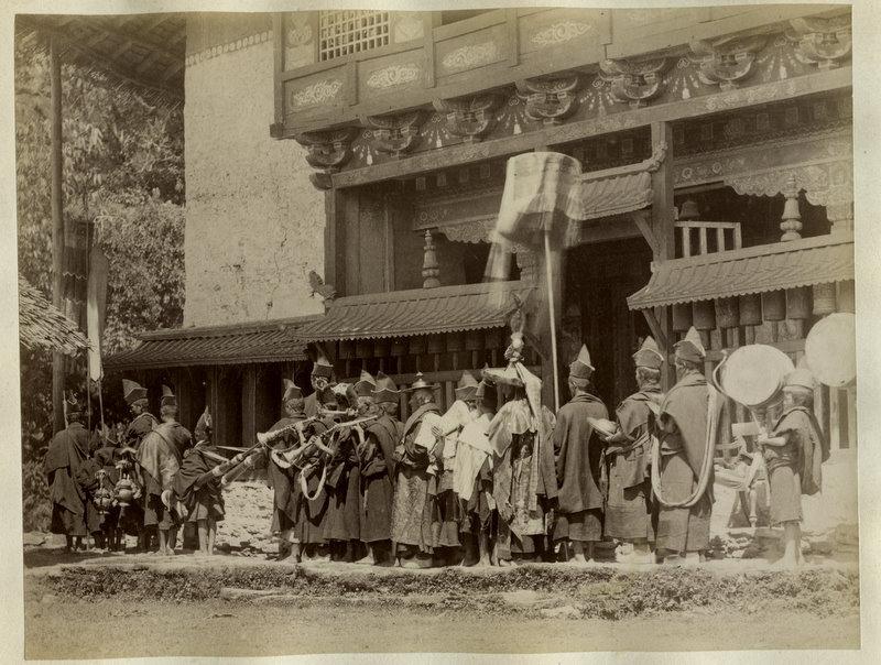 Outside of a Tibetan Monastery - 1880's