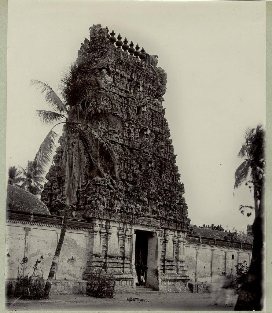 Temple in Trichinopoly (Tiruchirappalli) Tamil Nadu - 1890's