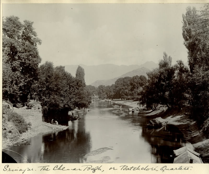 View of Srinagar, Kashmir - Circa 1900
