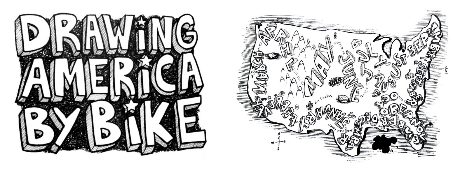 drawing america by bike