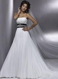 Black Empire Waist Wedding Dress