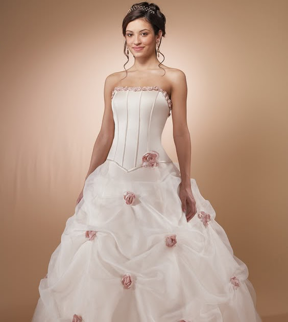 Gorgeous Wedding Dress: Gorgeous Pink Wedding Dress