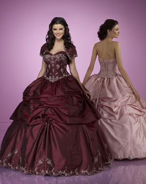 Gorgeous burgundy wedding dress