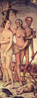 Las tres edades de la mujer, obra de Durero, pintor alemán del siglo XVI