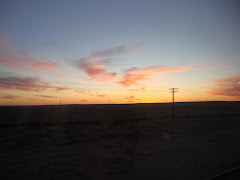 Solnedgang i Gobi ørkenen