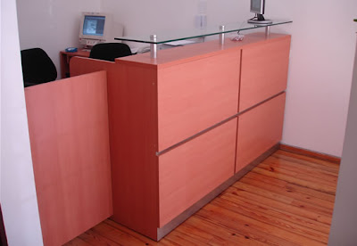 Estudio 3 recepciones de oficinas for Recepciones para oficina