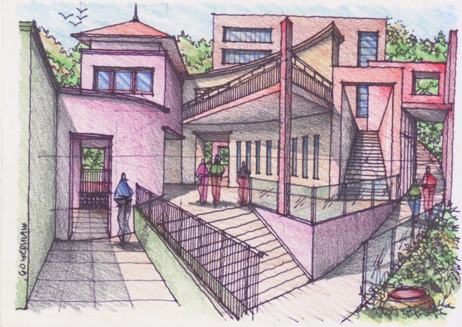 architecture design drawing techniques. How To Draw Complex Spaces 141109 Pencil Color Architecture Design Drawing Techniques N