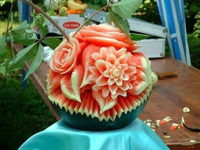 Tallado de frutas y verduras...