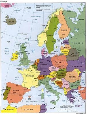 mapa europa paises. político de Europa (países
