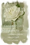 Tusen takk til Stines hverdag,for denne koselige Awarden.
