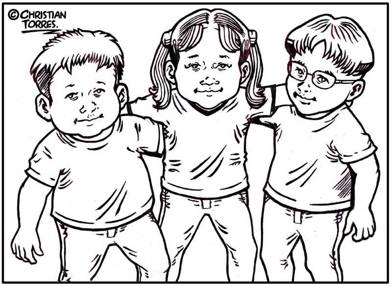 niños son los personajes principales de nuestro libro para colorear ...
