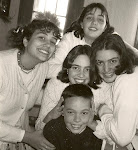 "John and his 4 sisters....  When asked the family he wants someday... ""I want 4 girls and a boy!'"