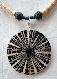 Heishe Shell and Lava Bead Necklace