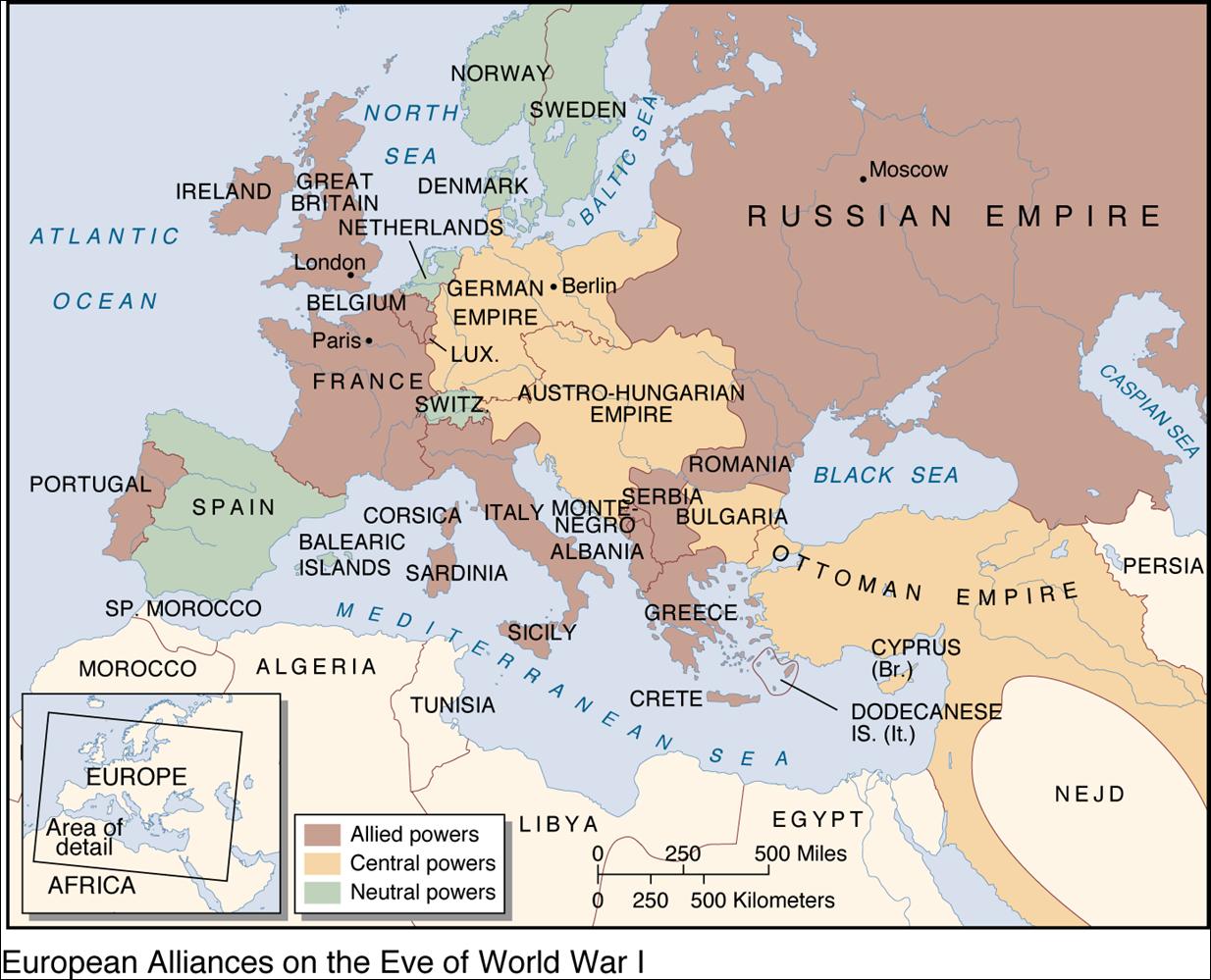 Europe 1914 Map Quiz