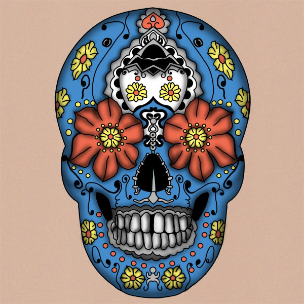 sugar skulls day of the dead tattoos. day of dead skull tattoo.