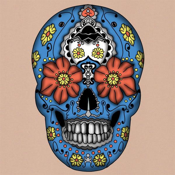 sugar skulls day of dead tattoos. day of dead skull tattoo.