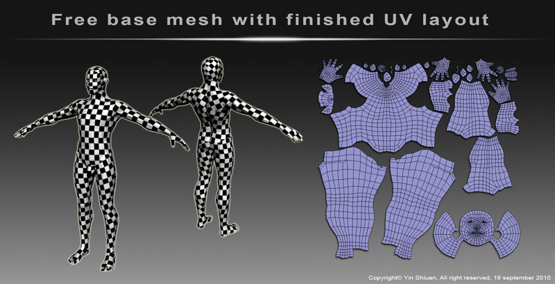 Free base mesh_Male & Male head
