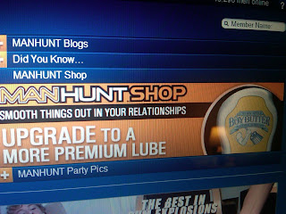 Manhunt.net Advertises Boy Butter Lubricants