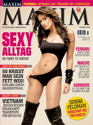 Super Model sister Donna Feldman, in Maxim Deutschland