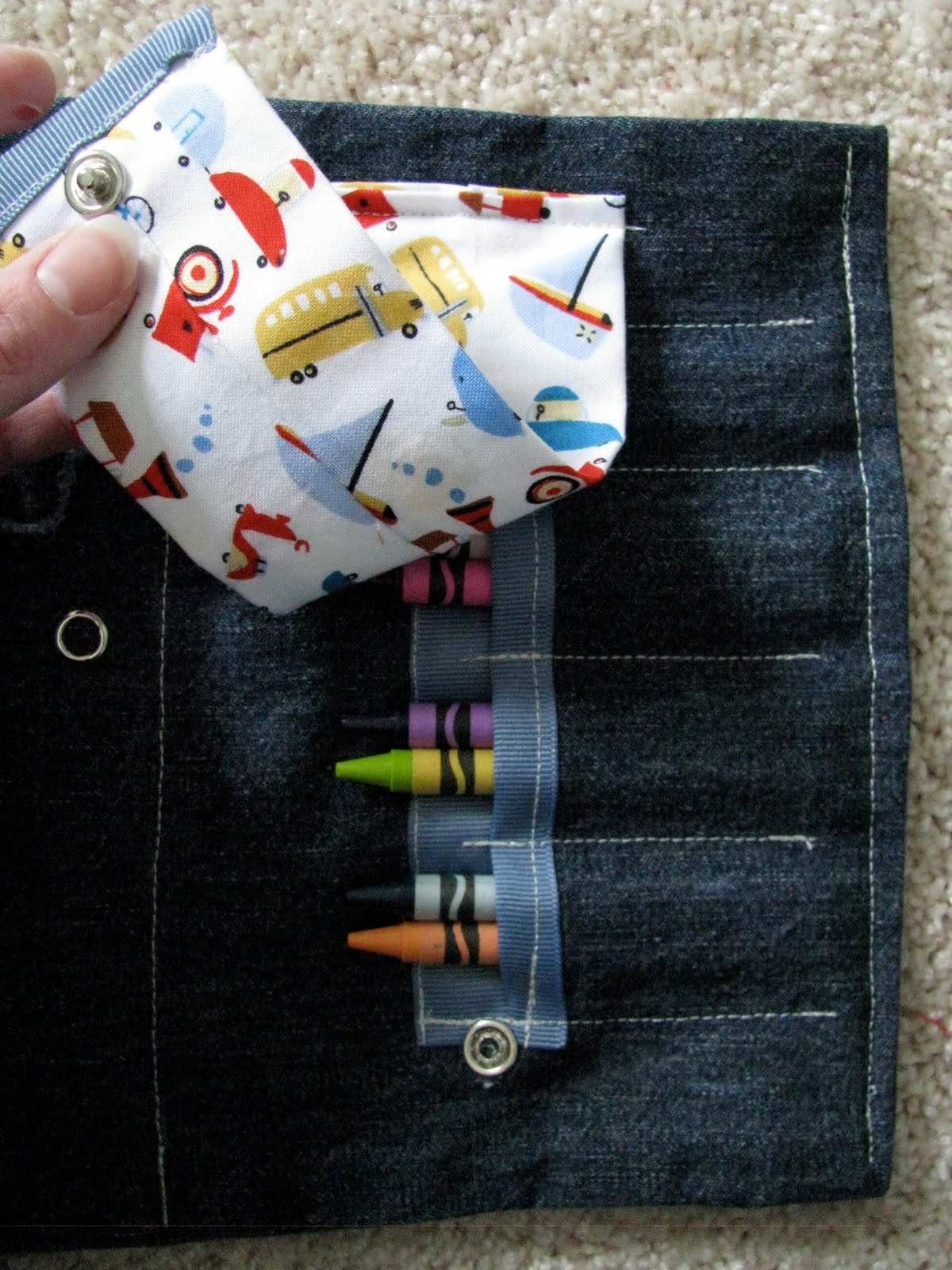 Toy Car Holder Tutorial : Create studio toy car and crayon clutch