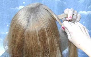 خطوات تضفير الشعر للبنات فى المدرسه وا الضفائر لفرنسيه بالصور 4858