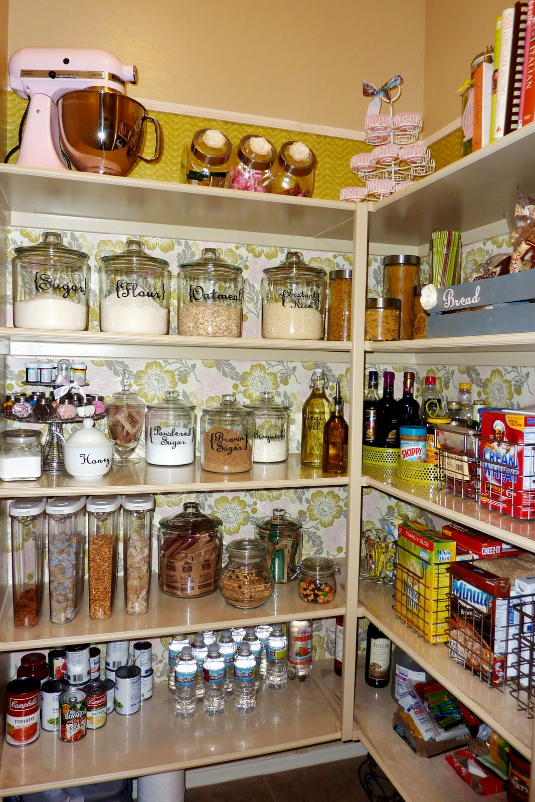 14 inspirational kitchen pantry makeovers home stories a for Kitchen shelf ideas