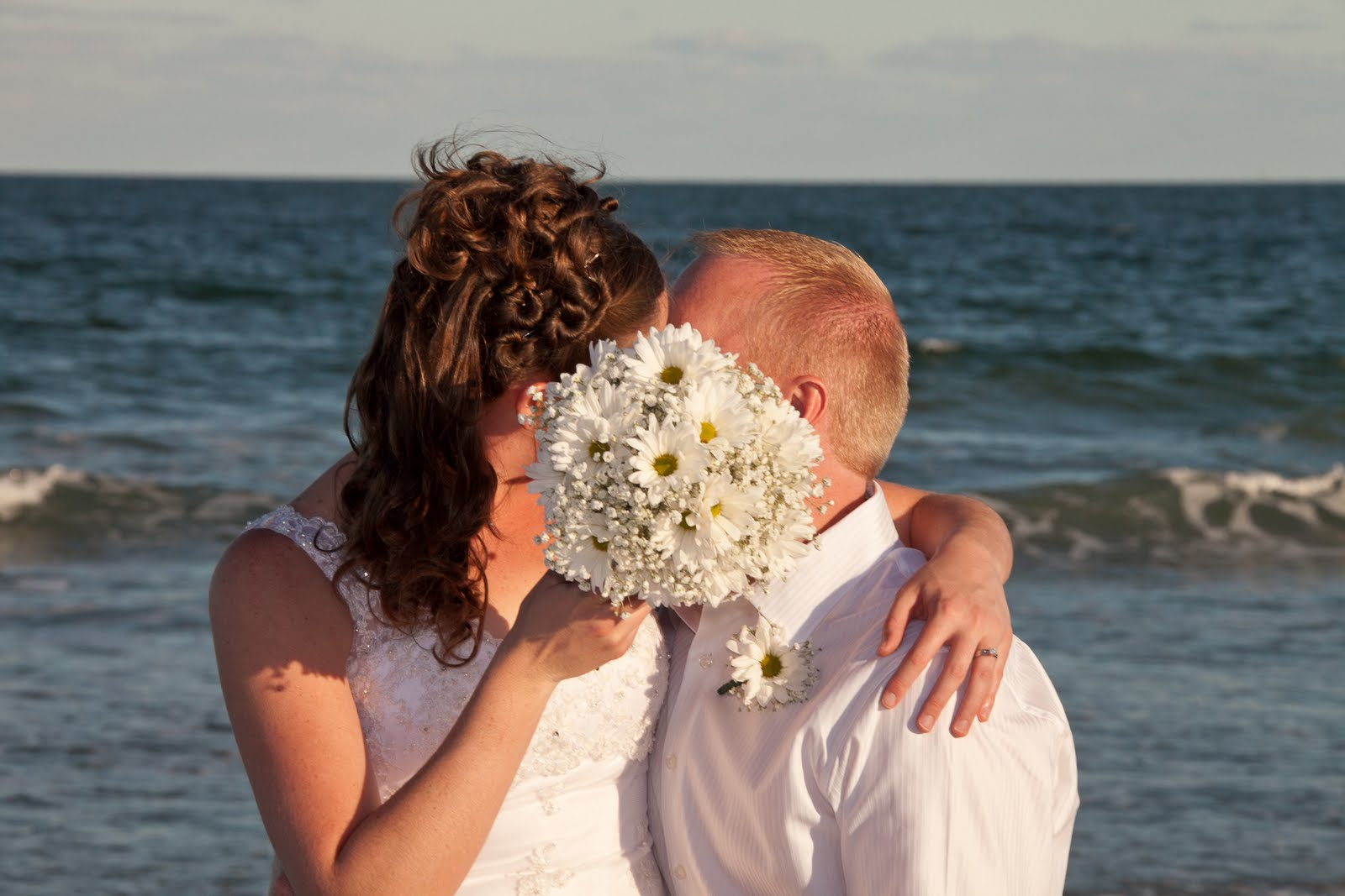 Florida Beach Wedding Flowers White Daisy And Babys Breath Bouquet