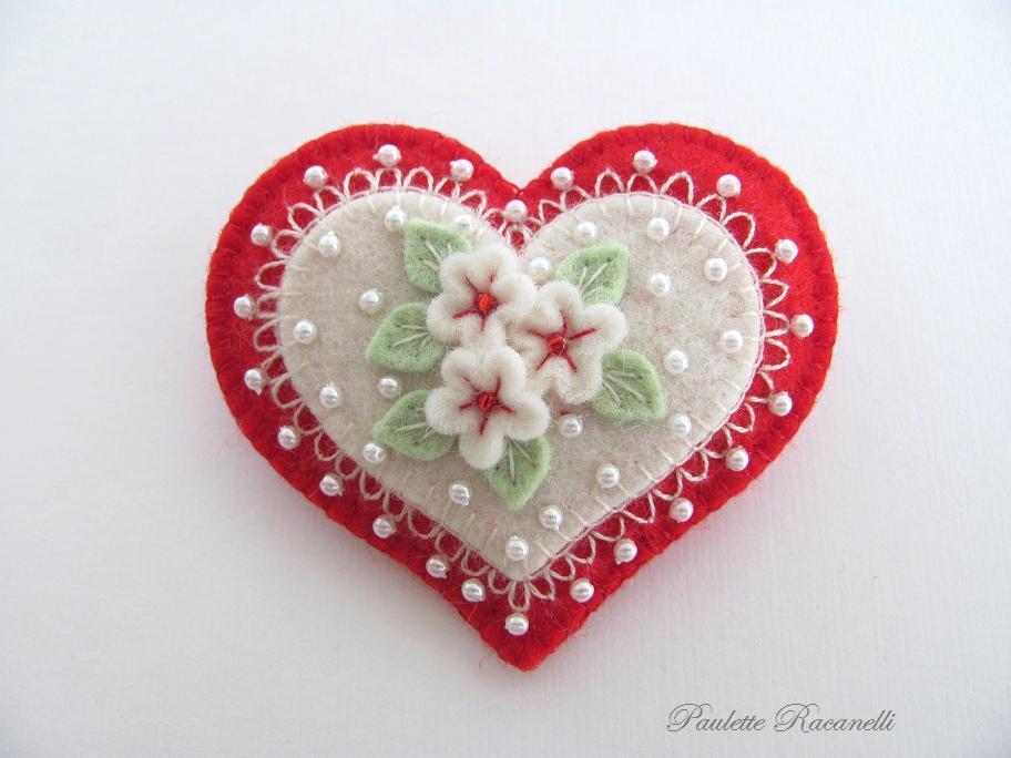 Валентинка из фетра своими руками фото