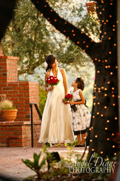 Daughter walking mom down the isle