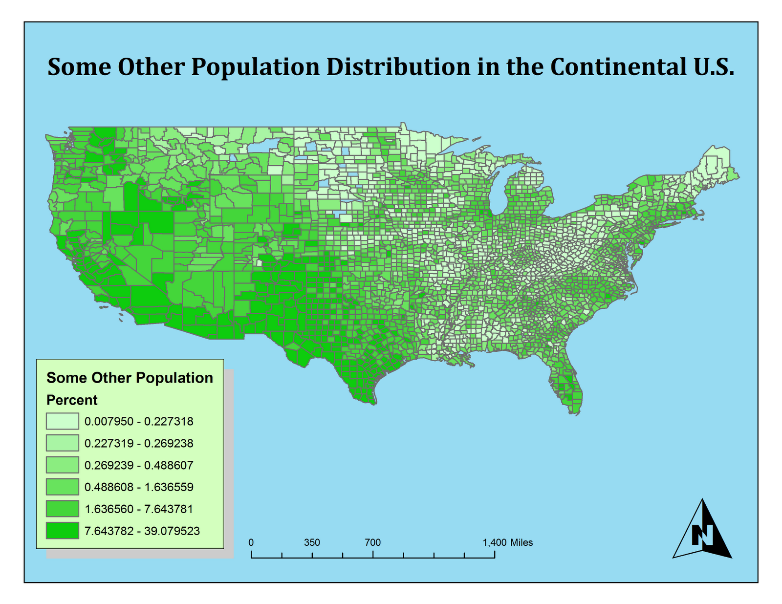 this last map is one that shows some other ethnicities as reported by the u s census of 2000 for this map i chose to use a green color ramp