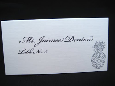 1 your favorite place card design 2 your wedding colors