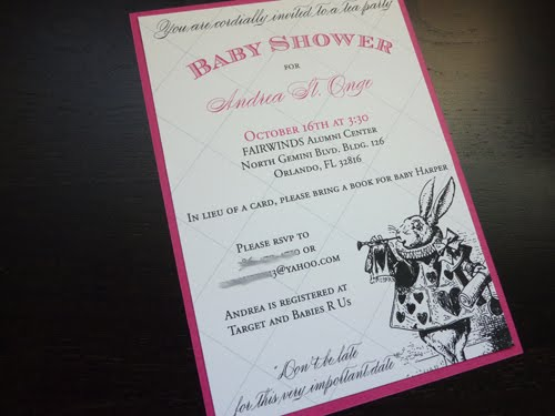 alice in wonderland baby shower invitation blush paperie