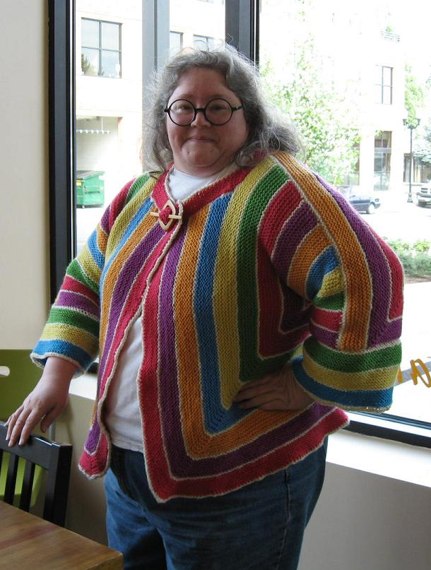 She didn't have many patterns but she had knitted for some time so had ...