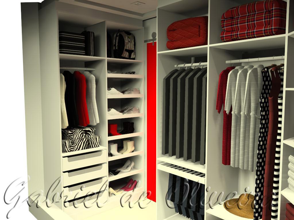 closet ficou com um espaço bem aproveitado nessa parede diagonal o  #C70405 1024 768