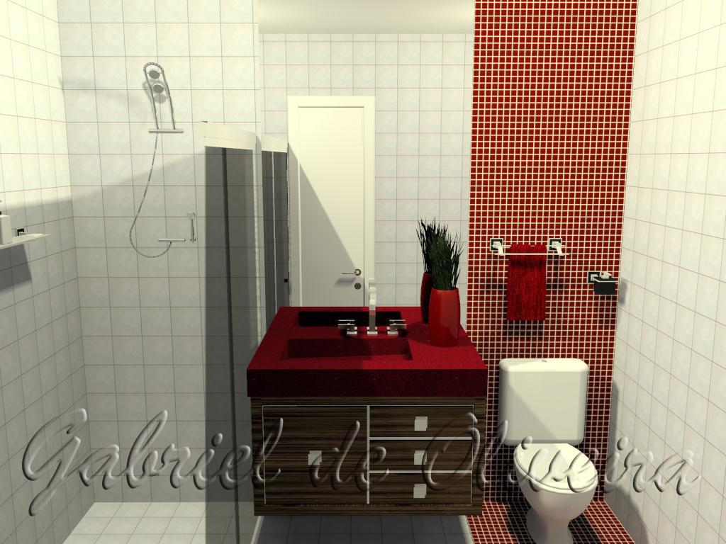 #7D271E No espaço de banheiro foi utilizado atrás do vaso uma pastilha de  1024x768 px Banheiros Com Pastilhas No Chão 1379