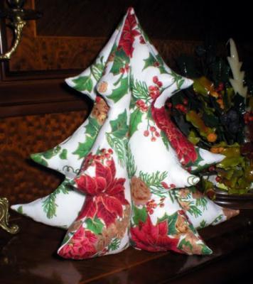 Via centostelle 41 adornos navide os - Arbol navidad tela ...